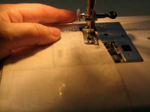"Start the hem with 2-4 straight stitches, 1/2"" from the hem edge."