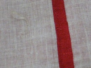 Pulling a thread allows you to cut a perfectly straight line, even on the shiftiest of fabrics.