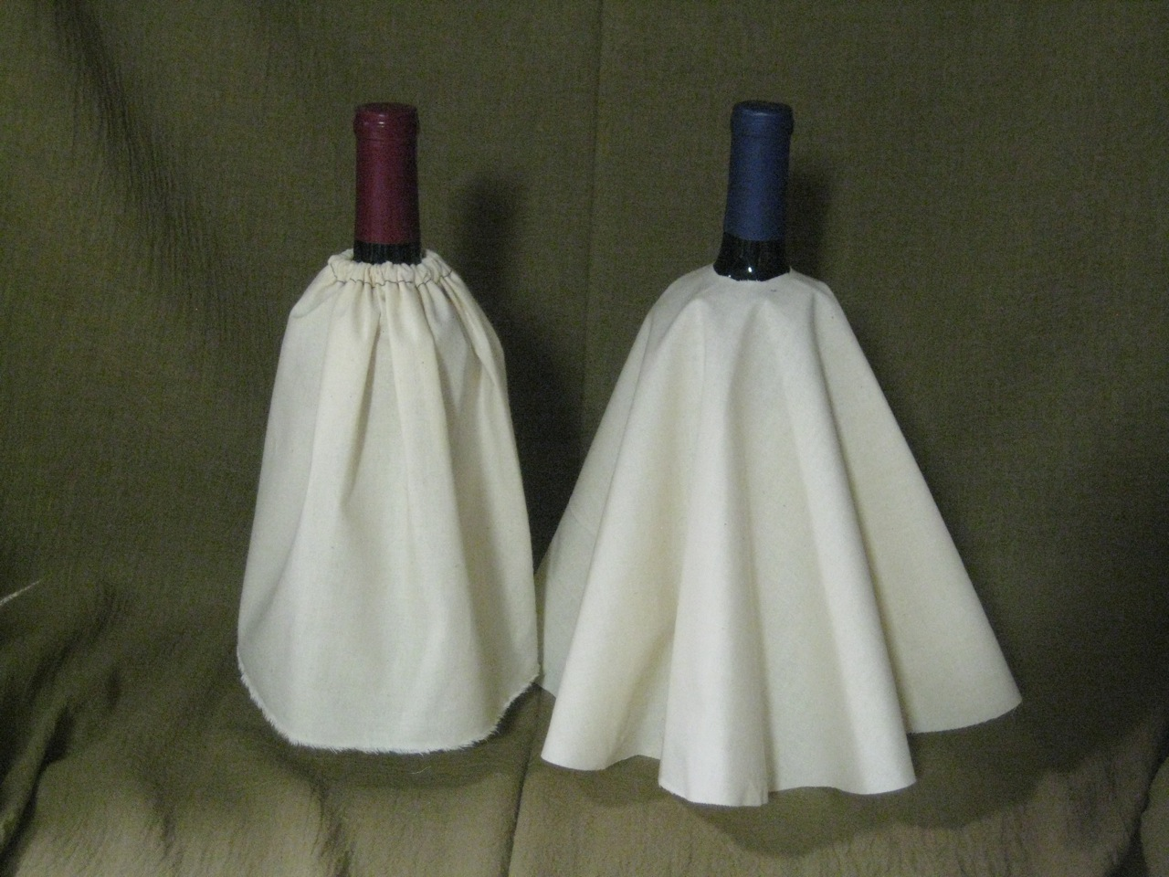 Two Basic Skirt Shapes: Rectangle (left) and Circle (right)