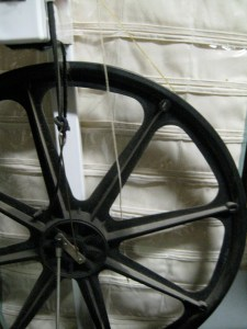 the spokes on a wheel