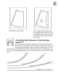 Sample Page: How to Draft Gored Skirts