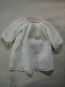 decorative stitching on chemise