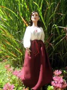 drawstring skirt being worn by a doll