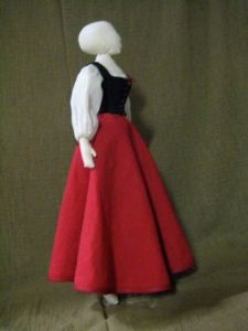 Doll in costume, side view