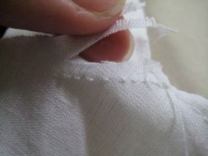 cutting down the seam allowance