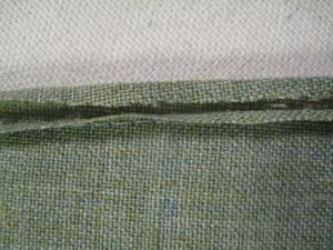 trimming pressed seam allowance