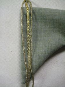 closeup of the sleeve hem