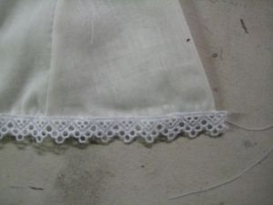 lace at hem