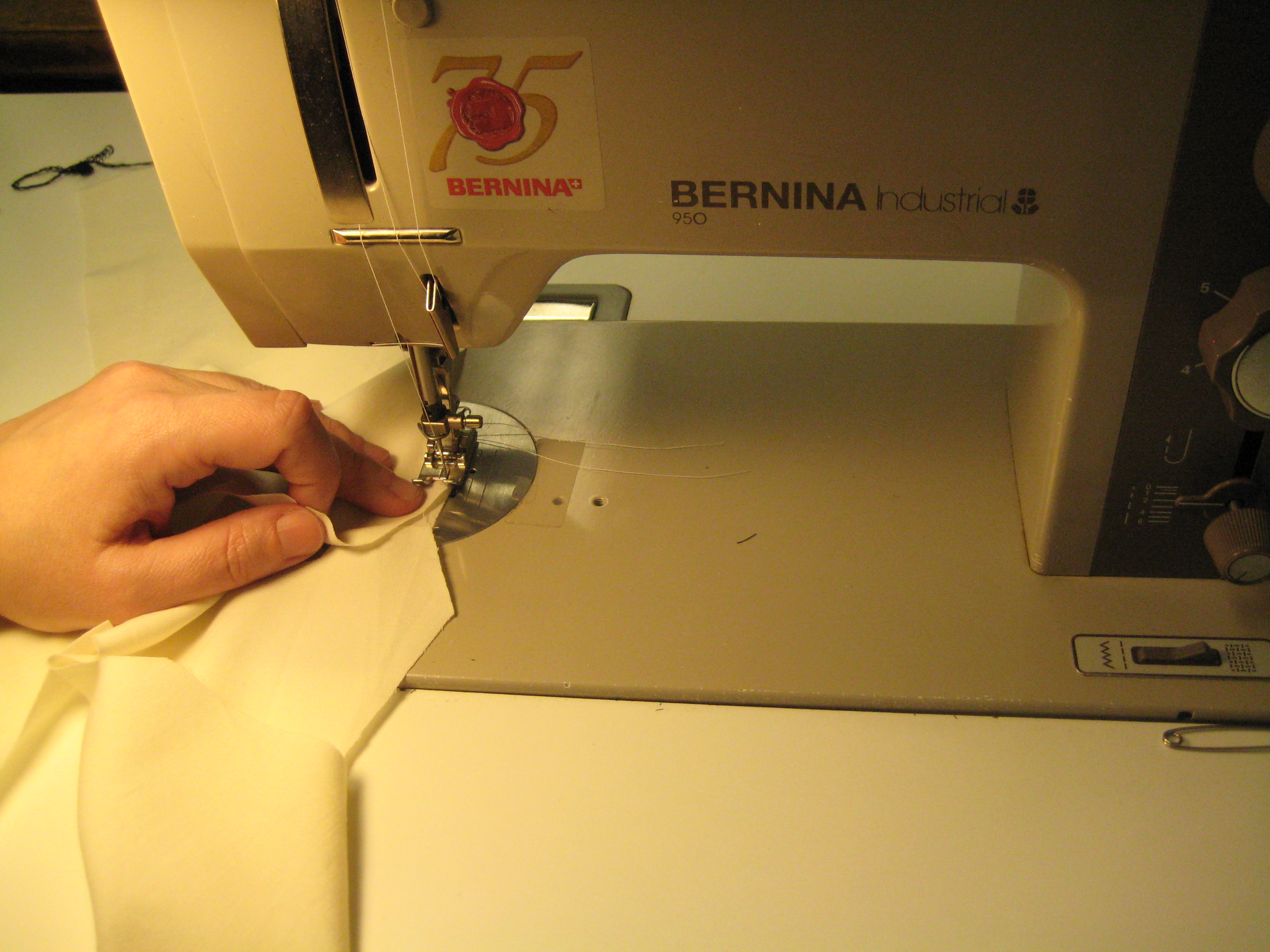 sewing doll clothes with industrial machine