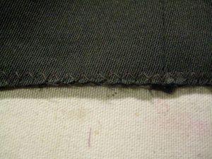 bottom edge sealed