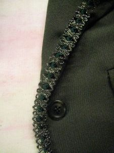trim on edge of jacket