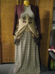 side drapes of dress