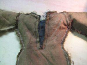 neckline sewn
