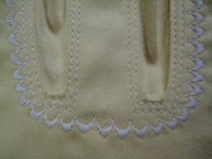 embroidery around bust gussets