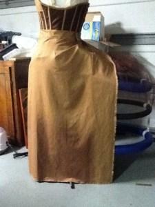 underskirt half draped