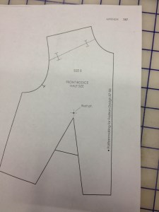 """Draw the yoke line in on the shoulder.  Add notches 1/2"""" from the neckline and the armscye."""