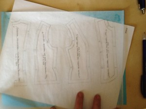 Finish out your pattern, including seam allowances, notches, grain lines, required markings, etc.
