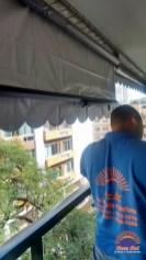 Toldo capota para janela e varanda