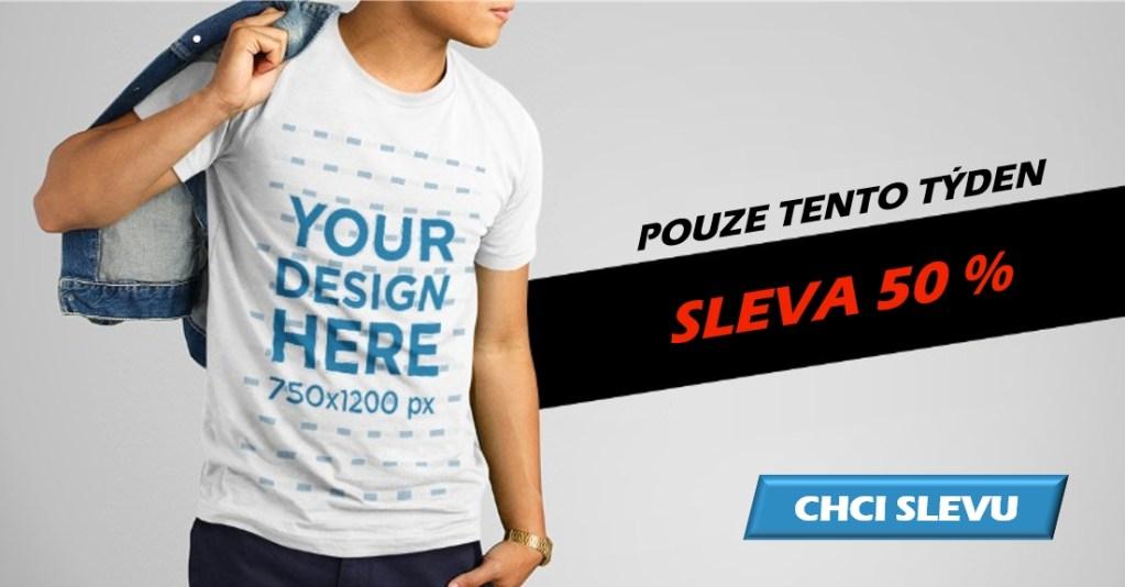 Reklama na slevu triček - OK