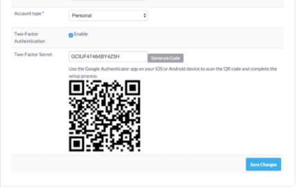 Nastavení v Google Authenticator probíhá jendoduše skrze QR kódy