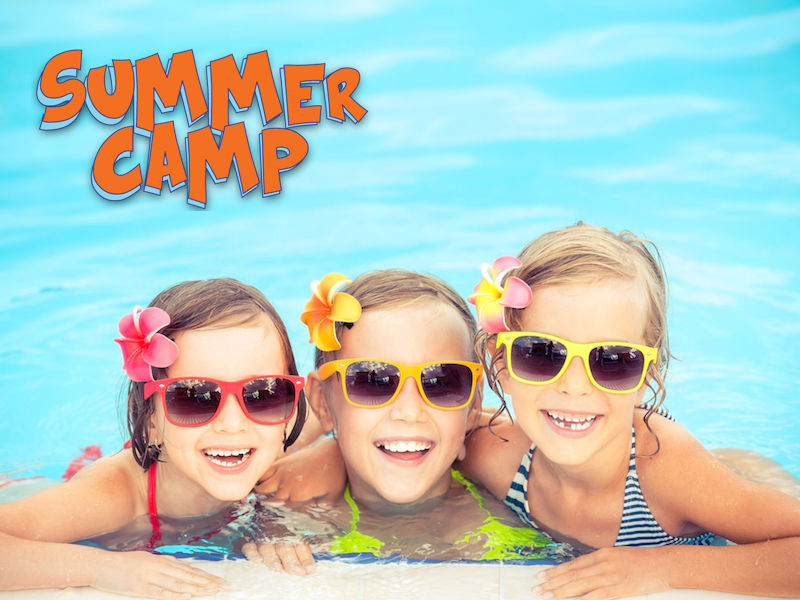 38259951 - happy children in the swimming pool. funny kids playing outdoors. summer vacation concept