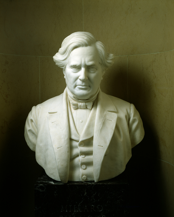 Bust of Vice President Millard Fillmore, by Robert Cushing, U.S. Senate Chamber