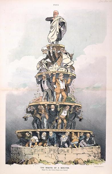 From the Historian of the U.S. Senate, a Joseph Keppler cartoon from Puck Magazine,