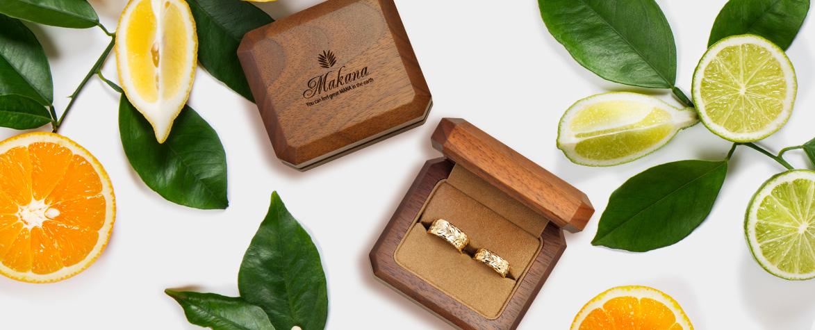 ハワイアンジュエリー「Makana」の結婚指輪