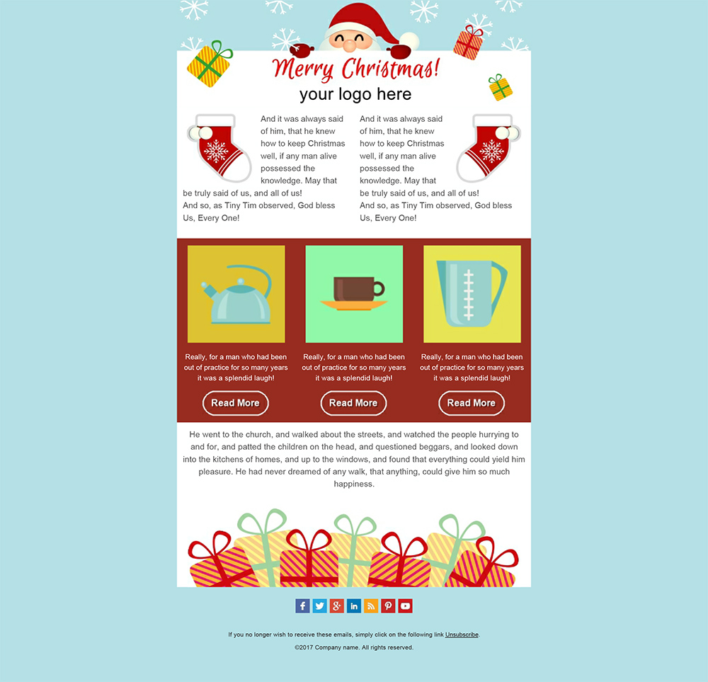 Create Your Christmas Newsletters 2018 SendBlaster Bulk