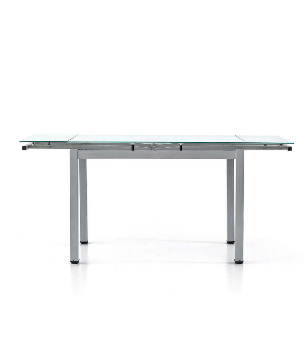 Tavolo Rettangolare Allungabile Piano In Vetro 68 Persone 110170 Cm Spazio Casa
