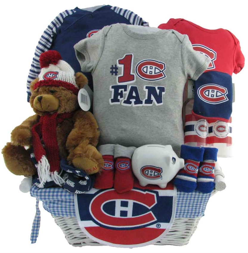 Montreal Canadians Baby Gift Deluxe Boys Baskets