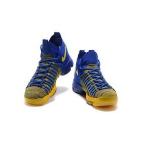 "Nike Zoom KD 9 Elite ""Warriors Away"" Blue Yellow"