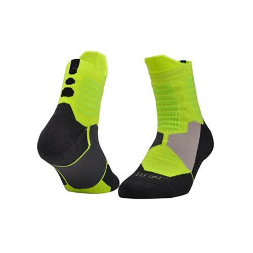 Chaussettes élite Dri-Fit vert fluo