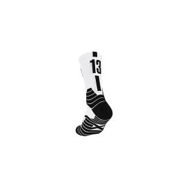 Chaussettes de basketball Blanc Noir 13