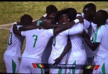 Madagascar Vs Sénégal : Moussa Konaté ouvre le score sur une reprise de volet . Madagascar Vs Sénégal : REGARDEZ LE BUT DE MOUSSA KONATE