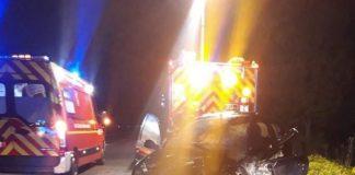 Violent accident sur la Vdn