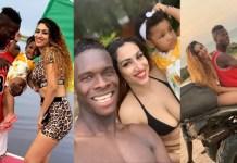 ( 10 Photos ) Le défenseur international Sénégalais, Pape Abou Cissé retrouve son épouse Jihanne