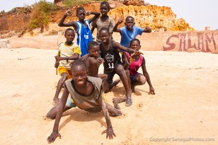 Local beach bustling with life in sleepy village of Toubab Dialaw on Petite Côte, Senegal. Photo by Marko Preslenkov.