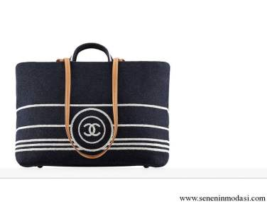 Chanel denim large tote bag