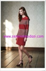 tory-burch-2015-pre-fall-bordo mini elbise