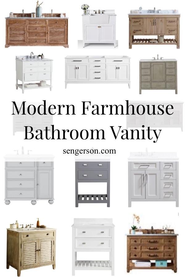 modern farmhouse bathroom vanities