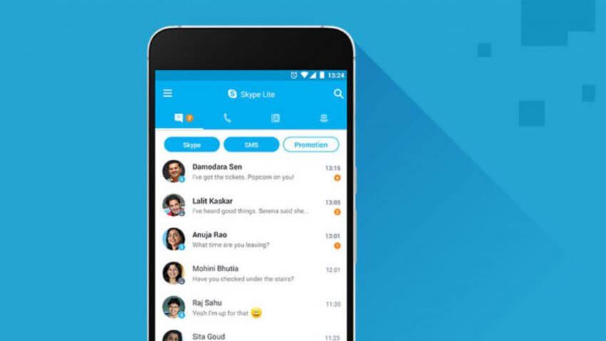 Aplikasi Populer Versi Lite - skype Lite