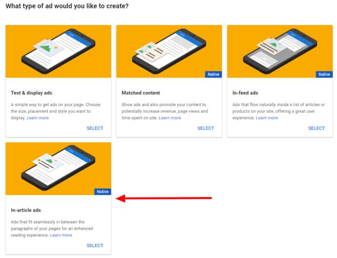 Cara Meningkatkan Penghasilan Google Adsense - in article ads native ad