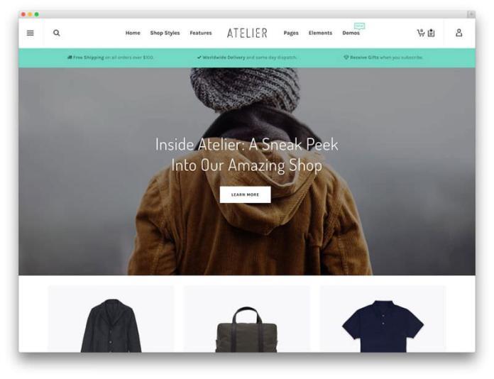Theme WordPress Untuk Toko Online Terbaik - atelier