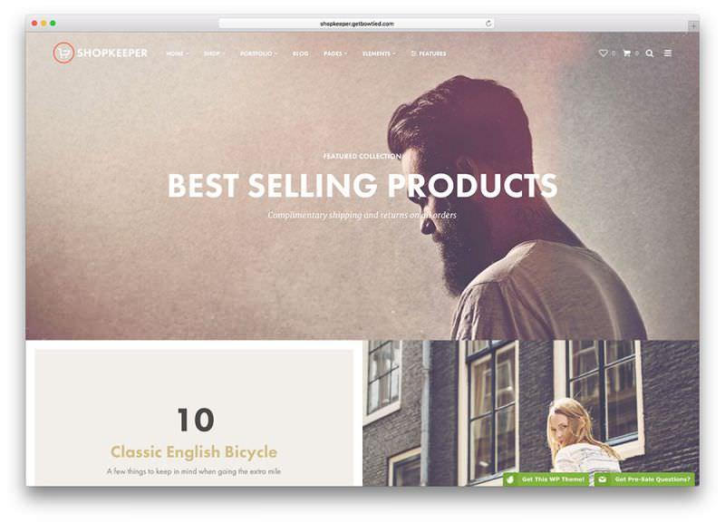 Theme WordPress Untuk Toko Online Terbaik - shopkeeper