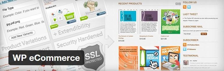 plugin wordpress untuk toko online - wp ecommerce