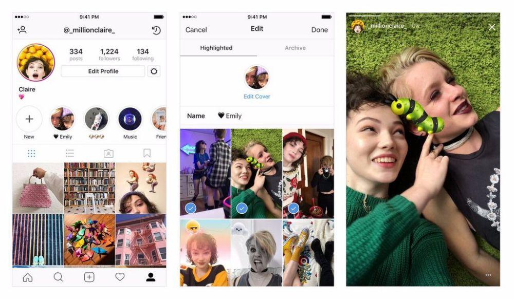 fitur terbaru instagram - story archive story highlights