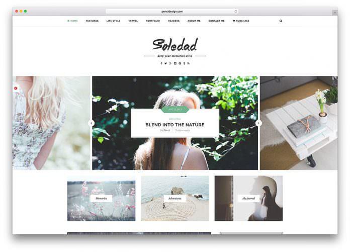 soledad - theme wordpress terbaik untuk personal blogger