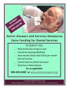 Dental Flyer - Extra Funding