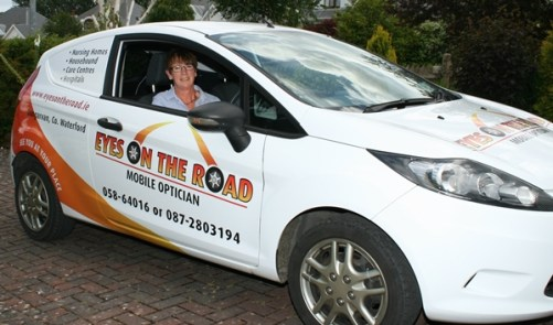Eyes on the Road picture of Kolette Enright in car